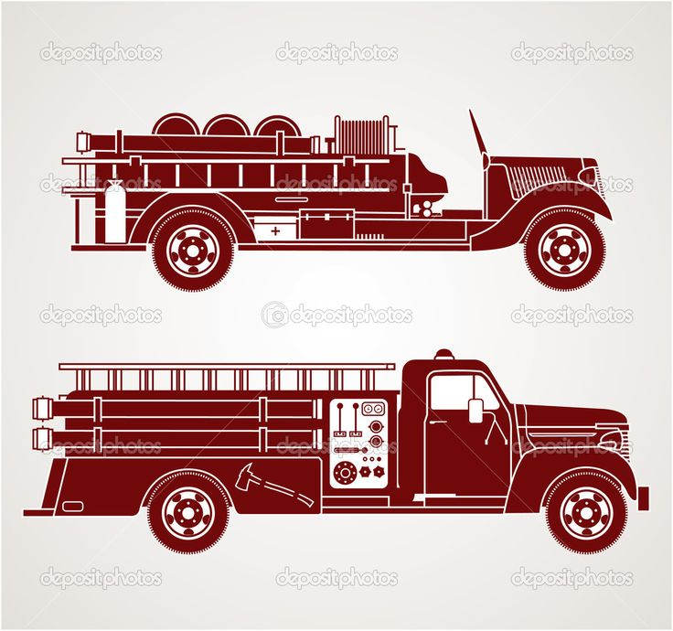 Image result for vintage fire truck vector