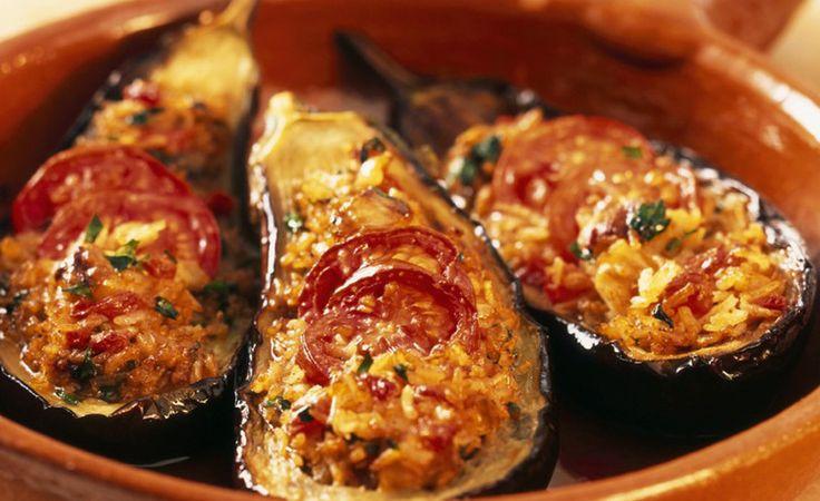 Surinaams eten!: Gevulde boulanger: heerlijke aubergine uit de oven met een vulling van gehakt