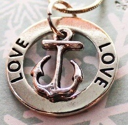 I Love My Sailor Anchor Pendant by TheSadBasset on Etsy