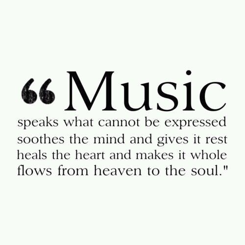 It does!  It's why I love to sing.  I catch myself singing all the time.  It soothes me.  It's a great way to worship our Creator too.  Listening to it is wonderful also but I usually end up singing along :)  Hence why I've never been able to listen to music to fall asleep haha.