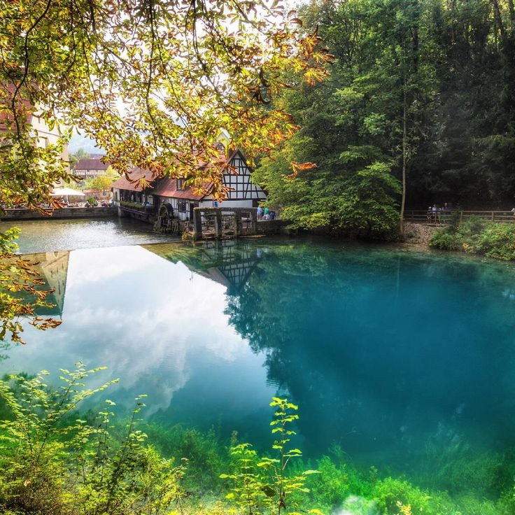 Amazing Lake Colour, It's called Blautopf in Southern Germany #281