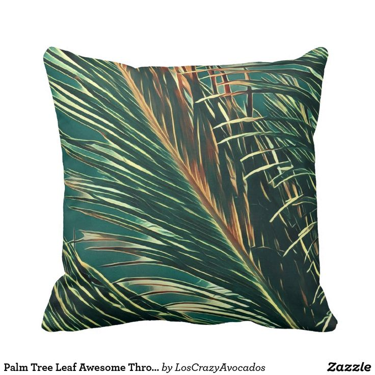 Palm Tree Leaf Awesome Throw Pillow