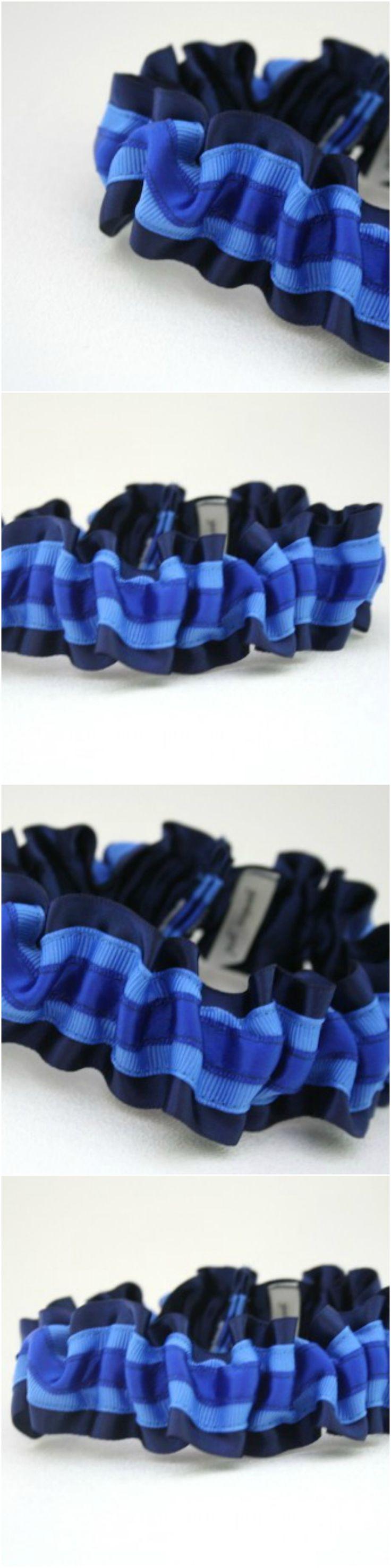 Custom Something Blue Wedding Garter-by The Garter Girl