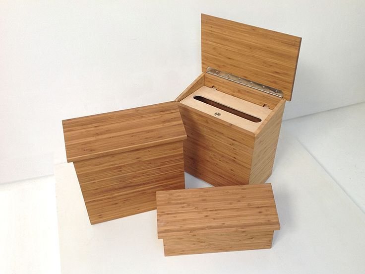 Environmentally Friendly Modern Wood Mailboxes In Three