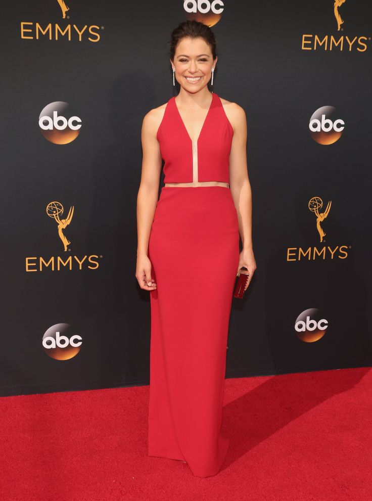 2016 Emmy's - Tatiana Maslany in an Alexander Wang dress and Forevermark Diamonds jewelry