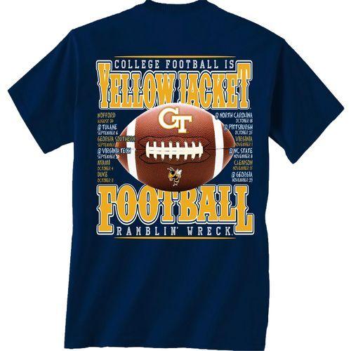 Georgia Tech Football Schedule 2014 T-shirt.