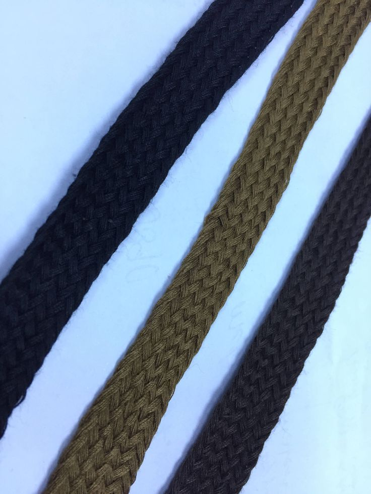 """0.4"""" wide Cotton Cord, Braided Cotton Cord, Custom Length Cotton Shoelaces by NoaElastics on Etsy"""