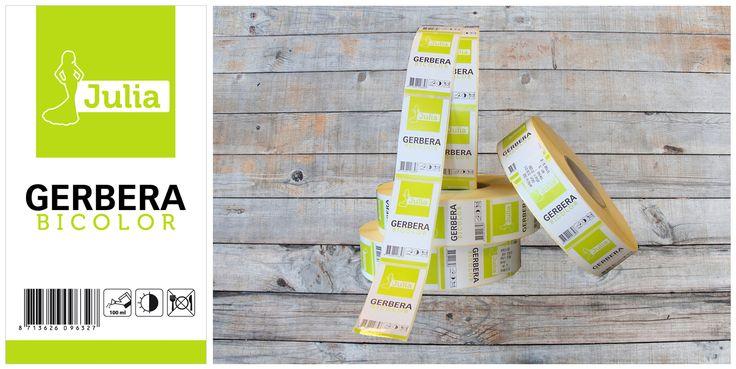 Voor Gerbera Factory hebben wij deze etiketten ontworpen en gedrukt, deze kunnen machinaal worden aangebracht op de verpakkingen van de bloemen!