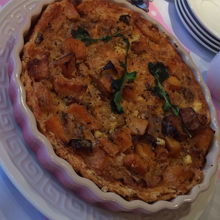 Butternut roasted and caramelized quiche