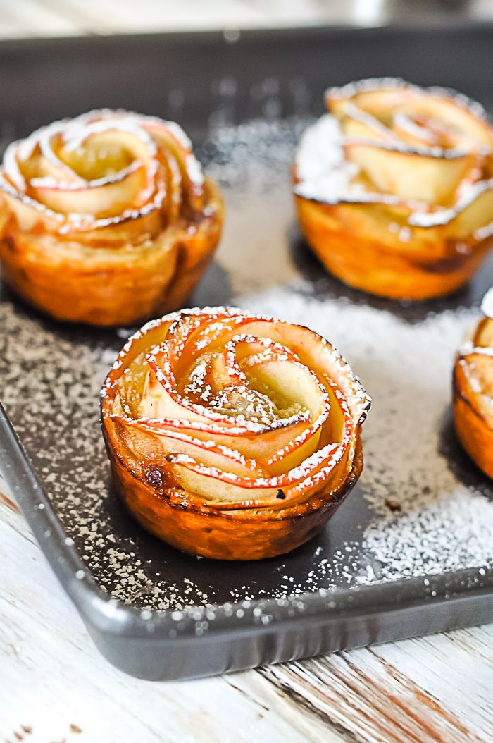 Baked Apple Roses are a gorgeous dessert pastry!