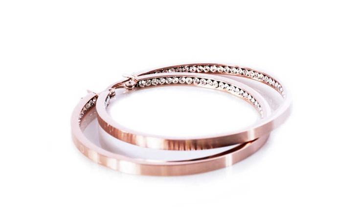 Earrings in rose gold - Monaco large earrings from Edblad.