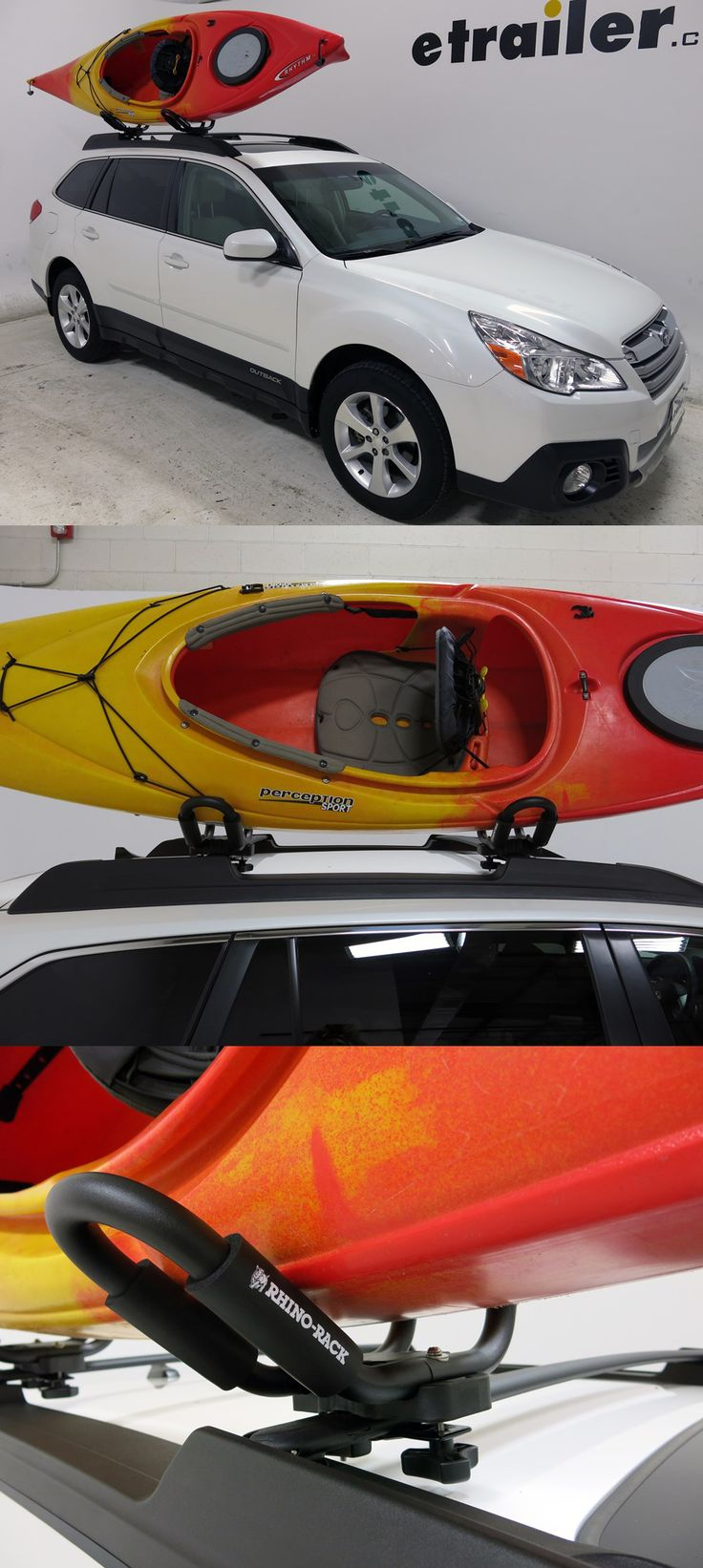 An essential vehicle accessory for the Subaru Outback Wagon and those who love kayaking! These J-Style Kayak Carriers are made to transport 1 kayak safely and securely on the roof rack!