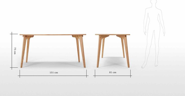 Fjord Rectangle Dining Table, Oak | made.com