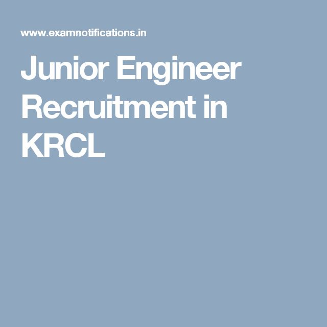 Junior Engineer Recruitment in KRCL