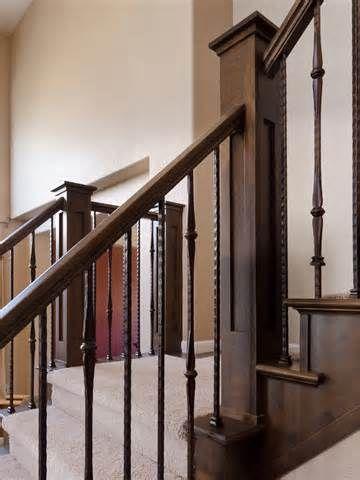 ... iron balusters, custom newel posts, iron balusters, stair railings