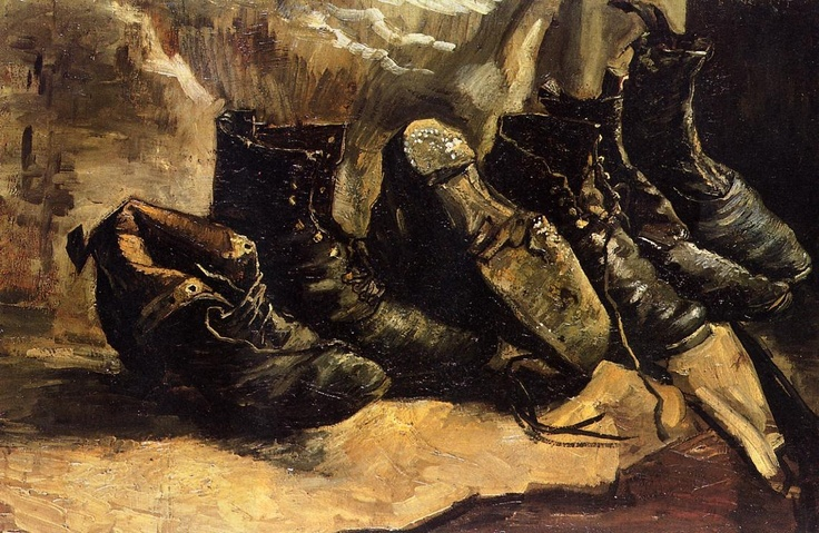 Three pair of shoes by Vicent Van Gogh