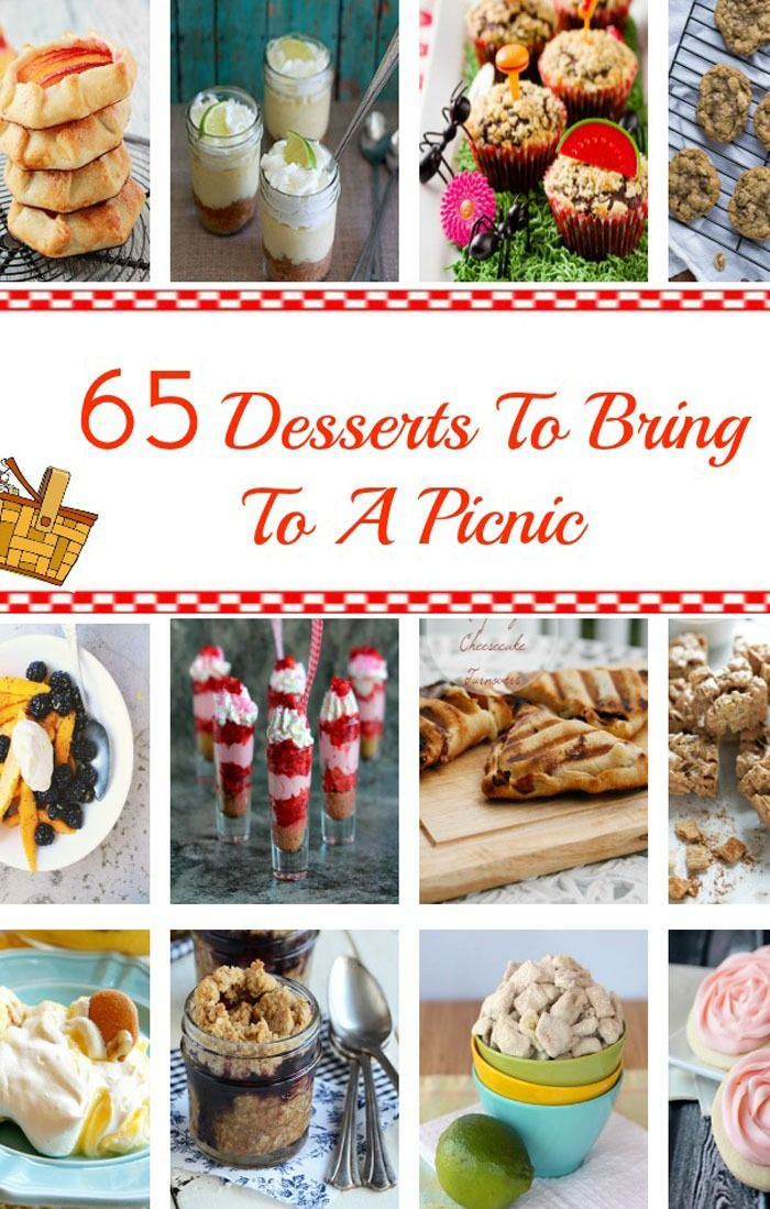 65 Desserts To Bring To a Picnic - all the best dessert recipes for summer parties, picnics, and barbecues! | cupcakesandkalechips.com | #roundup #bars #cake #cupcakes #dessertsinjars