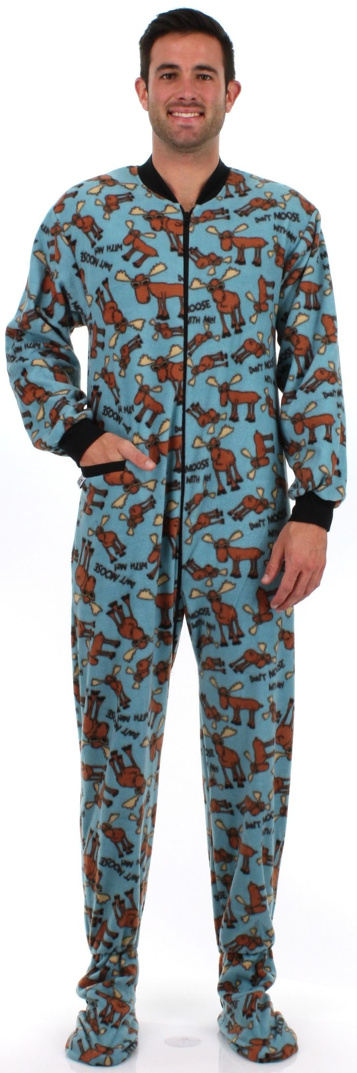 Don't Moose Men's Footed Pajama by Lazy One
