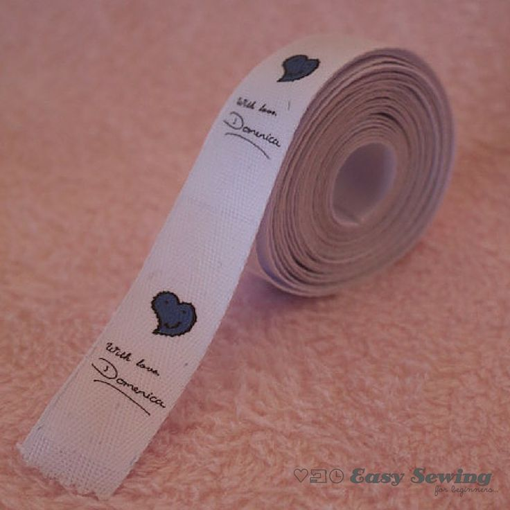 How to Make Fabric Labels at Home Square