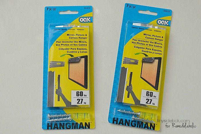 large mirror/frame hooks for headbd mounting - TinySidekick.com for Remodelaholic