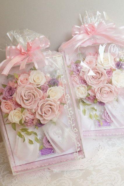 ご両親への贈答花 プリザーブドフラワー|プリザーブドフラワーブーケ・フレームアレンジ・・etcのデザイン日記 上品で大人可愛いウェディング