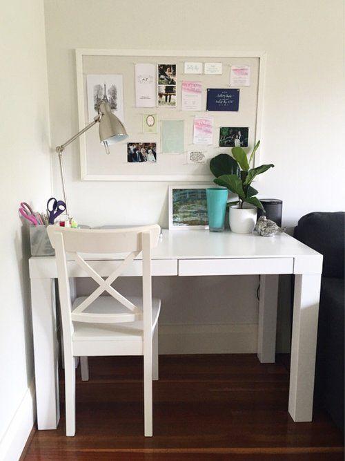Sally Bay -home -interior design -interior decorating -desk -office -styling -white -mint -desk -west elm -fiddle leaf -mood board -pin board -Kikki K -pink   Instagram: @sally_bay  Website: www.sallybay.com.au
