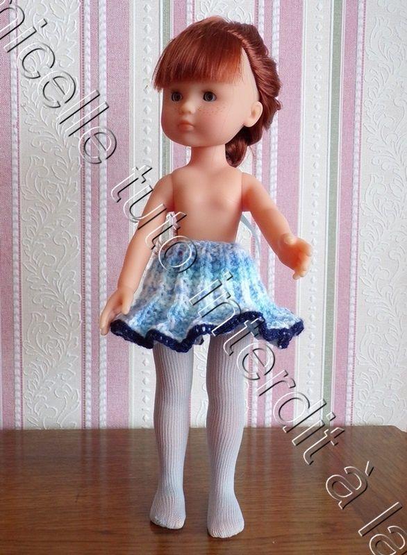 tuto gratuit poupée : jupe plissé soleil | Jupe plissée