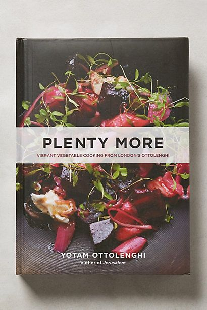 Plenty More #anthropologie | The much anticipated follow-up to chef Yotam Ottolenghi's best-selling, award-winning cookbook Plenty, this visually stunning collection features over 150 dazzling recipes organized by cooking method, with an emphasis on spice, seasonality and bold flavors. From inspired salads to hearty main dishes and mouthwatering desserts, Plenty More is a must-have for vegetarian and omnivore kitchens alike.