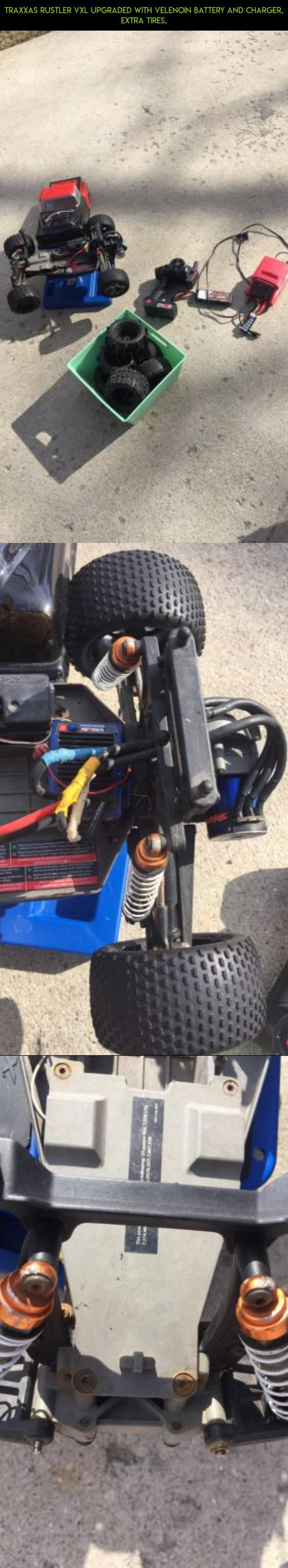 traxxas rustler vxl upgraded With Velenoin Battery And Charger, Extra Tires, #racing #gadgets #rustler #parts #kit #shopping #plans #traxxas #products #fpv #technology #tech #camera #drone #tires