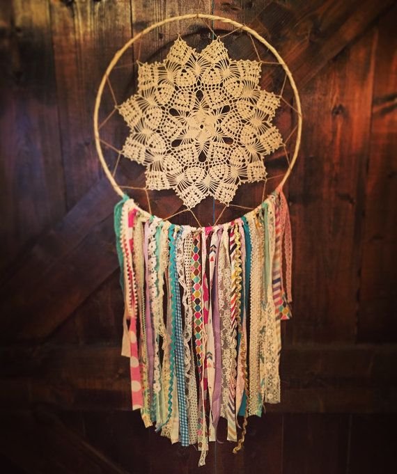 14 Boho Dreamcatcher Doily Dream Catcher by OneTrickPonyTexas
