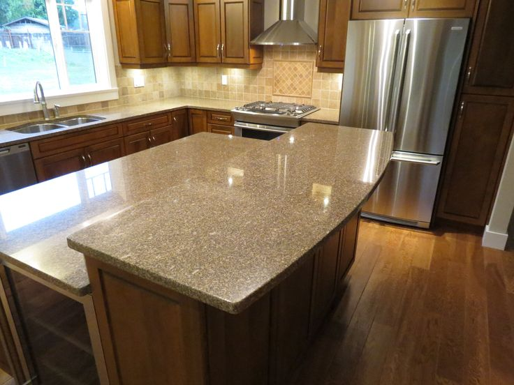 Giallo Antico Granite Kitchen With Island Granite
