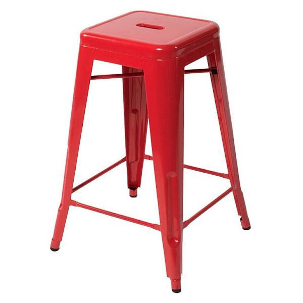 Industrial Stool - Red $79.95