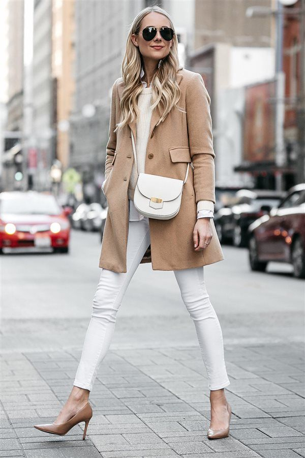 cae7c5c975d7 Look en blanco chic. Look urbano | Winter en 2019 | Pantalones ...