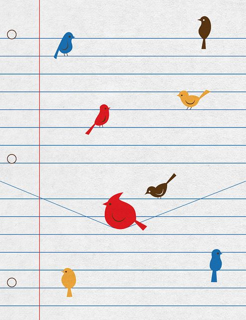 Notebook birds by skinnyandy, via Flickr...I don't know why but I love this.