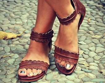 MIDSUMMER. Leather sandals / women shoes / leather by BaliELF