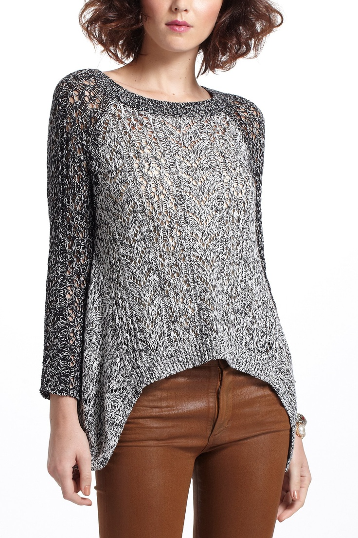 Dipped Lace Marled Sweater Love the color combination