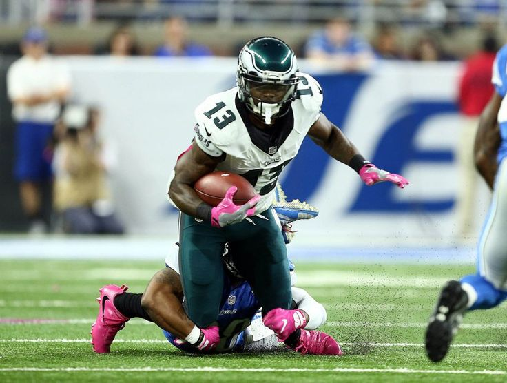 Eagles vs. Lions:  24-23, Lions, October 9, 2016  -         Philadelphia Eagles wide receiver Josh Huff (13) is tackled by Detroit Lions outside linebacker Kyle Van Noy (53) during the first quarter of a game at Ford Field. (Mike Carter|USA TODAY Sports)