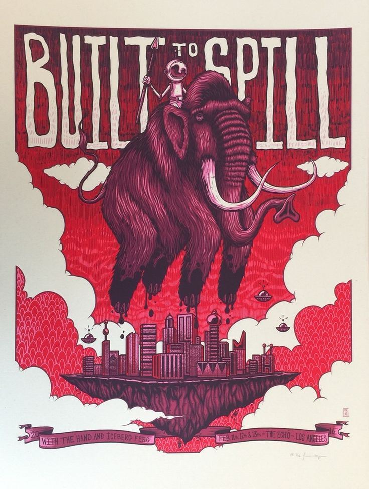 Image of Built To Spill - Echo - Feb 11th - 13th, 2016 - Regular Edition