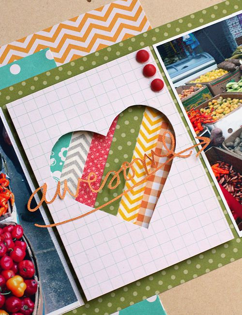 Card Making Ideas Scrapbooking Part - 17: Cute Project Life Card Idea, Would Move The Word Down To The Bottom And Make  It A Color That Has A Little More Pop.