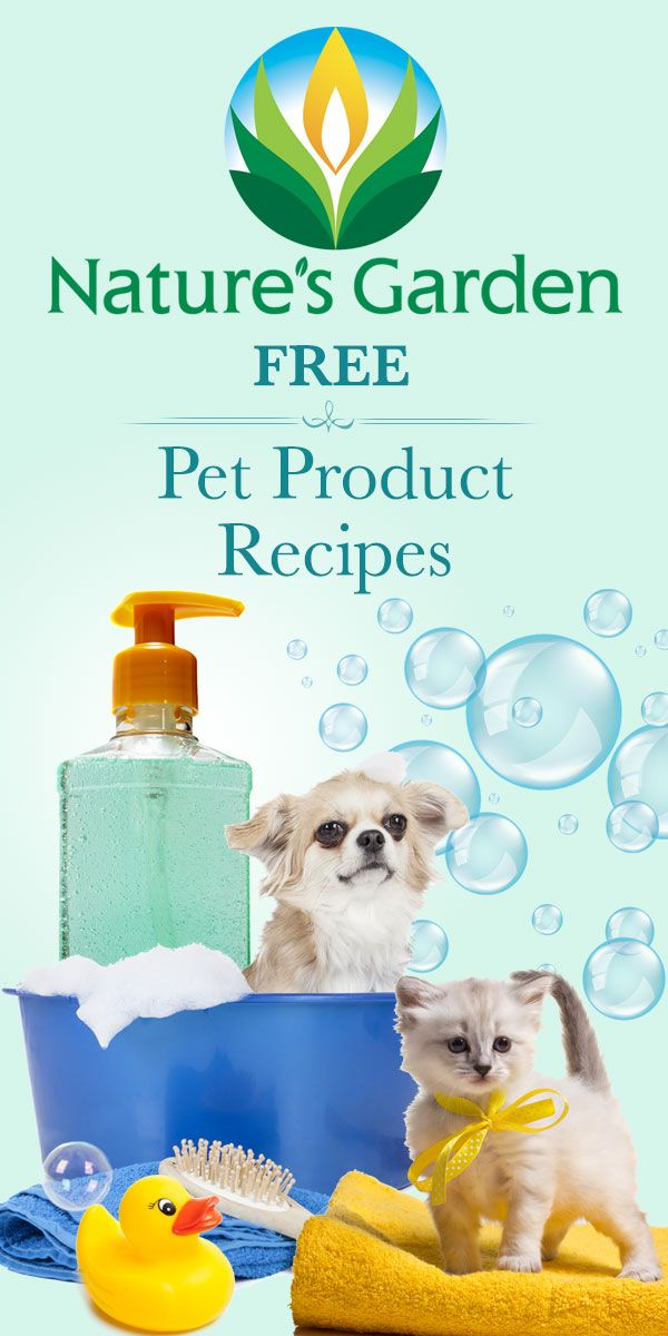 Free Pet Product Recipes from Natures Garden.  #petproducts