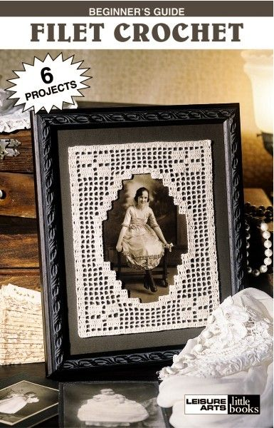 Beginner's Guide Filet Crochet eBook - Return to the gentle graces of old-fashioned home decorating with filet crochet. Protect a table with a lacy, eight-sided doily. Add eye appeal to a comfortable seat with a charming three-piece chair set. Or display the family name in a frame.