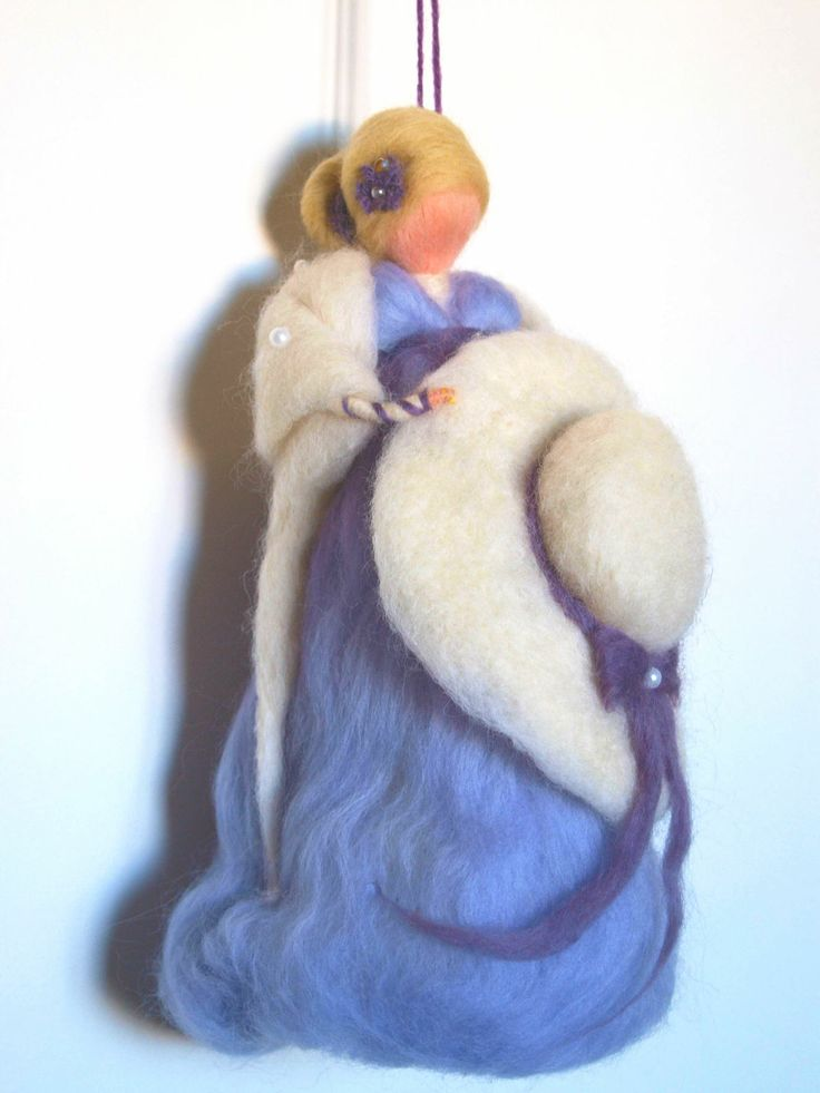 Little purple wool lady by Philosopher's Joke.