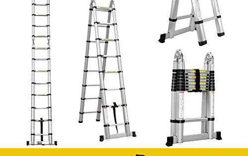 ICYMI: finether 5m Échelle Pliante échelle télescopique extensible échelle échelle échelle multifonctions aluminium Échelle Échelle double…