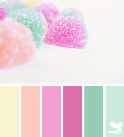 Colores muy dulces. Paleta de colores
