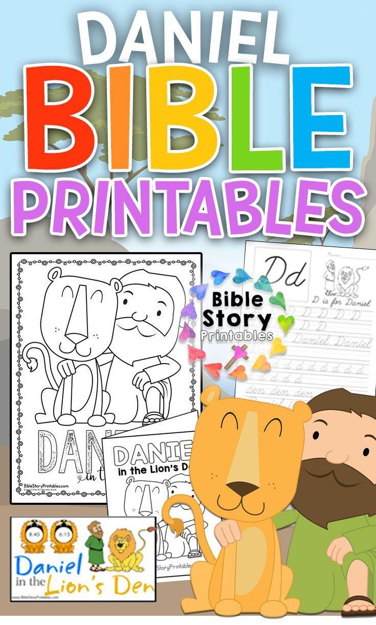 Daniel in the Lion's Den Bible Printables Toddler bible