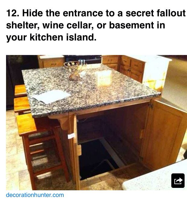 281 best hidden doors and drawers images on pinterest for Building a panic room inside your house