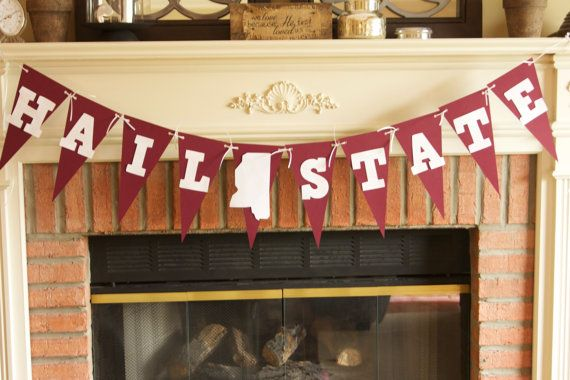 Mississippi State University Hail State Banner- Free Shipping