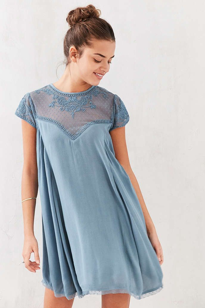 Kimchi Blue Lily Embellished Trapeze Dress - Urban Outfitters
