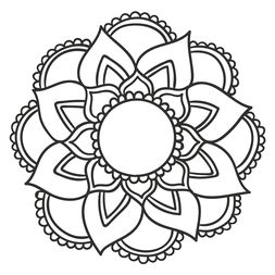 Mandala Floral #14