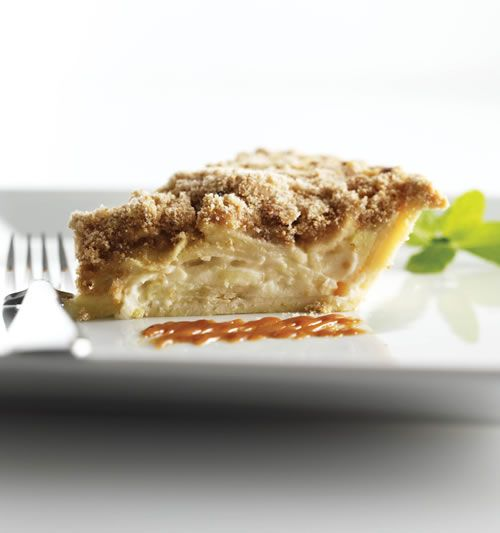 Sour Cream Apple Pie with Walnut Streusel - copy cat from Little Pie Company